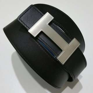 100% Authentic Hermes Silver Brushed Quizz 32mm Belt Buckle (Belt not Included)