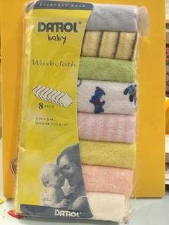 8pc baby wash cloth