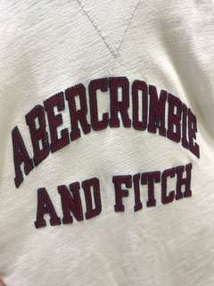 Abercrombie & Fitch White & Red Sweater