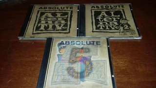 Absolute Alternative Vol 1,2 &5 rare various Artist Collection 1995/1996 used rare. Nirvana, Green Day, Off Spring , Red Hot Chili Peppers, Stone Temple Pilots