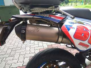R&G exhaust protector on DRZ 400