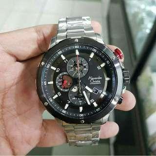Jam tangan Pria Alexandre Christie original AC 6435