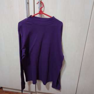 Long sleeved purple shirt