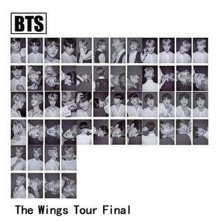 BTS FINAL WINGS STAGE CARDS / SET (MEMBER)