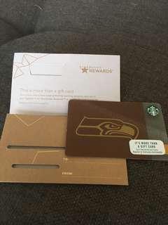 Limited Edition US Seahawks Starbucks card