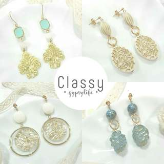 • Classy • Handmade Earstuds Earrings