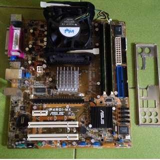 P4 478 P4RD1-MX 使用PCIE介面 (有內顯) 整組賣