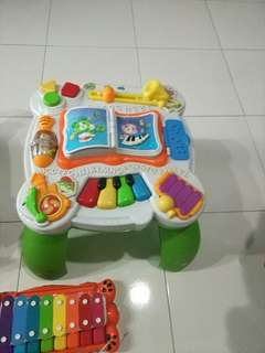 Activity table-30$, toys&plane-5$