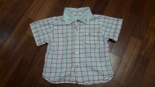 Chateau de Sable boy's checkered shirt for 6 mths old