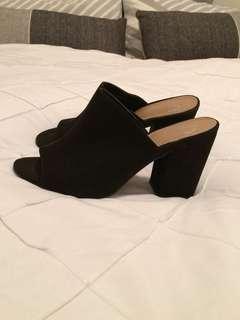 Black heels - Suede Mules