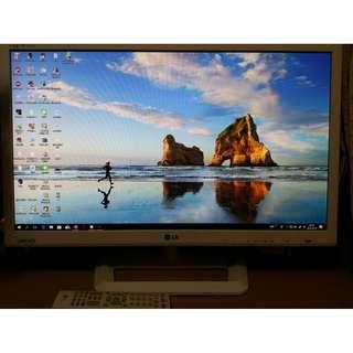 LG 27吋 M2752D-WH IPS 電視連電腦 LED MON(超薄靚仔 無花無死點 95%新 連搖控)