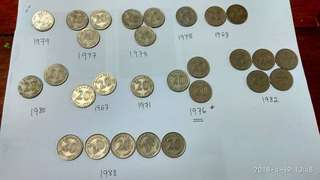 Old Coins 20 cent & 10 cent