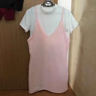 Korean Style Shirt/Dress Set