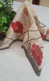 🎁🎁🎁Junko Koshino Beautiful Floral  Cotton Handkerchief