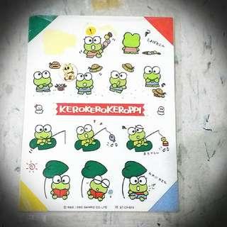Kerokerokeroppi Keroppi Sticker 90 青蛙貼紙