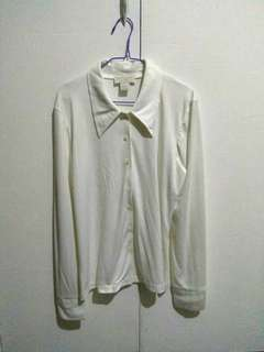 Express Tricot Off White Polo
