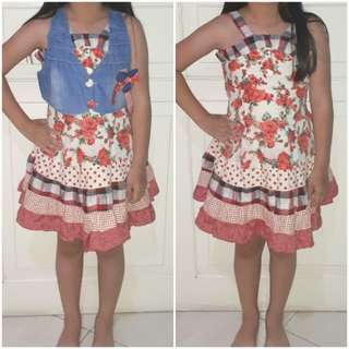 Dress Anak Flowers Impor Baru Habisin Stok