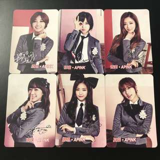A17*(全銀簽)Apink Yescard YES卡簽名咭SET