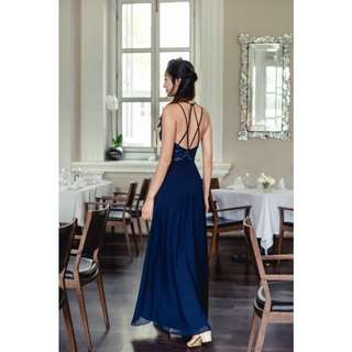 Looking for Thread Theory Blissful Brilliance Sequin Backless Dress (Navy)