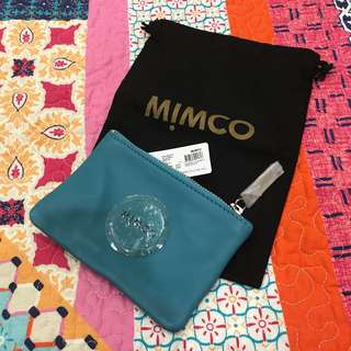 BNWT Small Mimco Pouch Teal