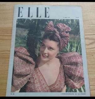 ELLE 復古雜誌1946年典藏版