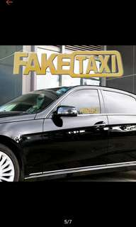 Fake Taxi Sticker For Car