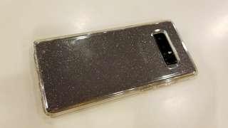 Samsung note8 spigen spg case手機套~閃亮軟殼used