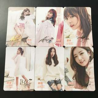 A31*(全金簽)Apink Yescard YES卡簽名咭SET