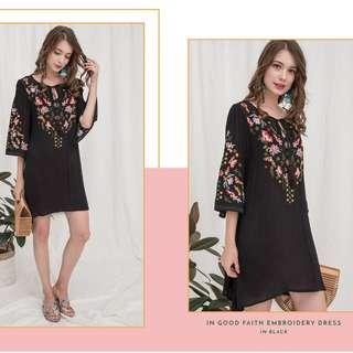 [PO] In Good Faith Embroidery Dress