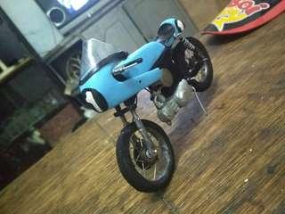 Miniatur cafe racer blue handmade