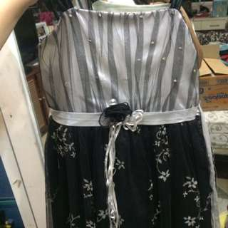 GAUN HITAM ANAK BLACK GOWN DRESS