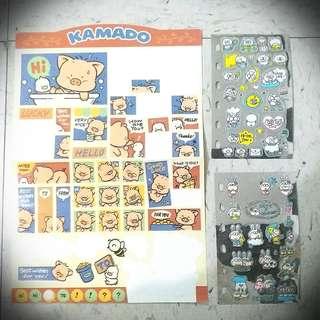 Kamado Sticker 豬貼紙兔