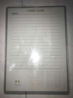 Solid A4 size memo/ menu card case