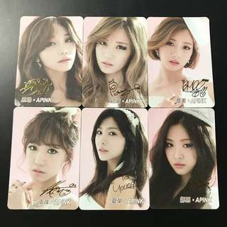 A22*(全金簽) Apink Yescard YES卡金簽SET