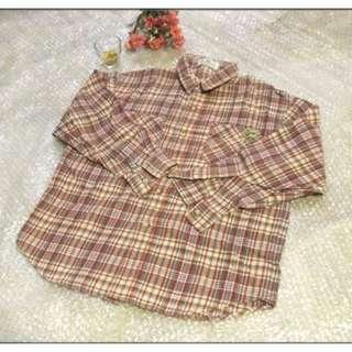襯衫 長袖 男童 女童 兒童 小孩 可當 秋天外套 尺寸:140cm   小三至小五