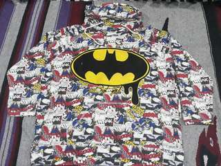 Batgirl All Over Print hoodie sweatshirt - batman - size L oversize