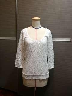 H&M 蕾絲棉質上衣