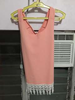Pink Sleeveless/Crossback Top