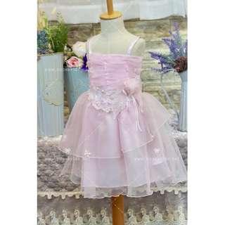 G07 粉紅色 花女公主裙 促銷 Pink Flower Girl DRESS sample sale