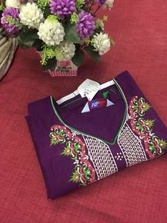 (BNWT)Promotion for this week-Cotton Purple Embroidered Kurti