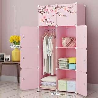 粉紅色衣櫃 輕盈樹脂膠