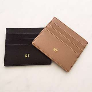 personalised pu leather card case custom leather card holder personalised cardholder