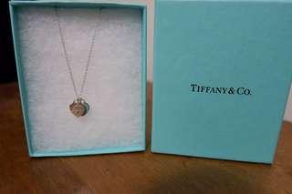 Tiffany & Co. Mini Double Heart Tag Necklace