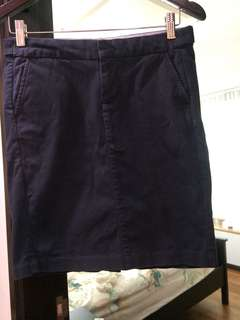 GAP cotton pencil skirt navy