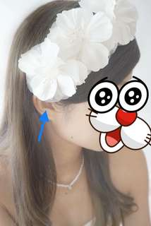 新娘白色絲花頭飾 bridal hair accessories