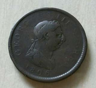 Britain 1806 Penny Coin