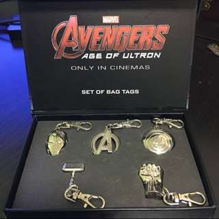 Marvel Avengers Age Of Ultron Bag Tag Keychains