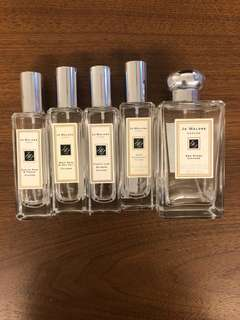 Jo Malone Perfume Bottles (Empty)