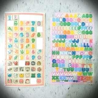 英文數字 Letter Nunber Sticker
