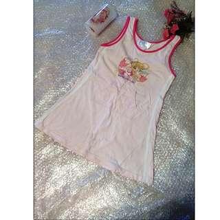 夏天 短袖 T恤 居家服 睡衣 睡裙 女生女童 小孩 兒童  尺吋120~140cm